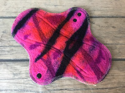 ONE Regular Flow Wrap Wing Pad with ZORB - bamboo fleece - dyed by Tripletts Tie Dye