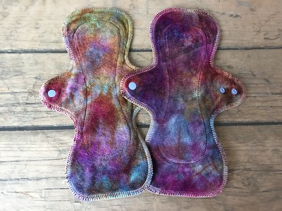 "TWO UltiMini xs Pads - bamboo velour - ""rainbow gem"""