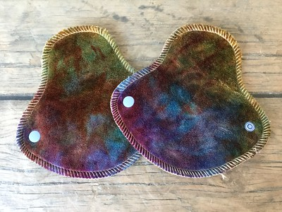 "TWO HalfWrap Liners - bamboo velour - ""rainbow gem"""