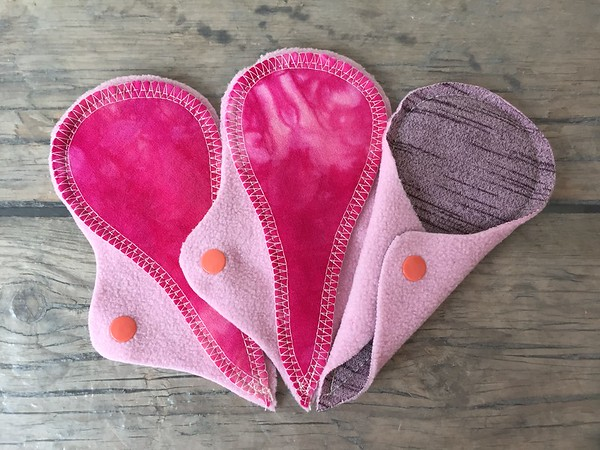 """THREE Thong Liners - bamboo terry, smooth side up - """"hot pink"""""""