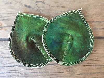 ONE Pair Raw Tussah Silk Nursing Pads