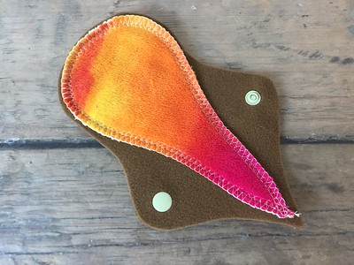 """ONE Thong Liner - bamboo velour - """"hand painted sunset"""""""