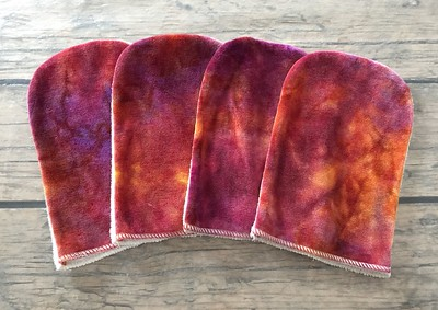 Set of FOUR FULL SIZE Bath Mitts - Great for gift giving!