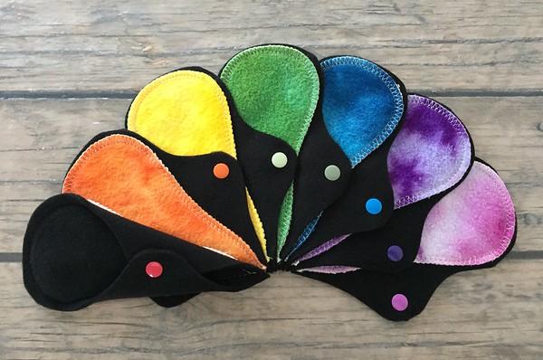 "SEVEN Thong Liners - bamboo fleece - ""rainbow"""