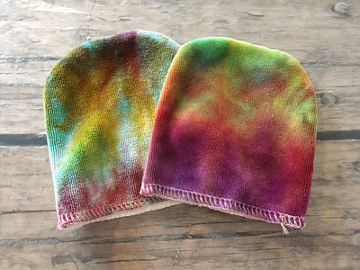 Set of TWO Facial Mitts - bamboo velour & terry