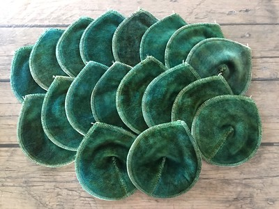 "ONE Pair of Super Soaker Nursing Pads - ""emerald"""