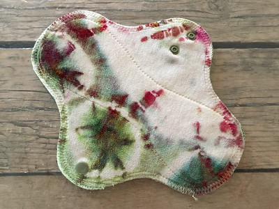 ONE Light Wrap Wing Pad - PUL backing - bamboo velour - dyed by Tripletts Tie Dye