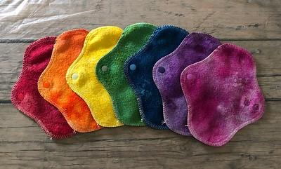 "SEVEN PantyWraps - bamboo fleece, fluffy - ""rainbow"""