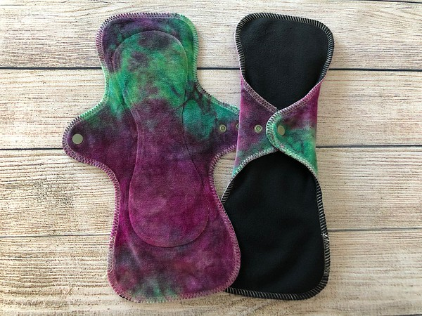 "TWO 12.25"" UltiMini Reusable Cloth Pads for Heavy Flow"