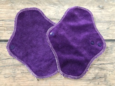 "TWO 7"" Pantywrap Reusable Cloth Pads for Light Flow"