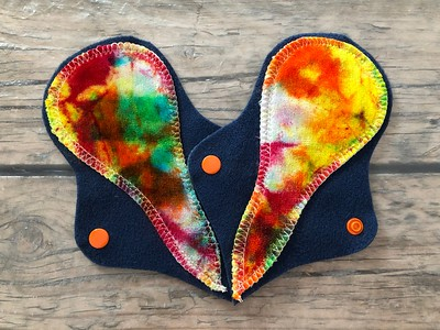 """TWO 6"""" Thong Reusable Cloth Pads for Very Light Flow"""