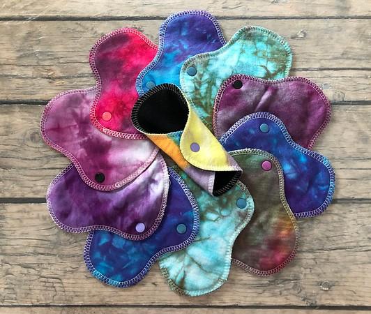 "ONE 5.75"" Halfwrap Reusable Cloth Pad for Very Light Flow - Surprise Colors"