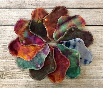 "ONE 7"" PantyWrap Reusable Cloth Pad for Light Flow - Surprise Colours"