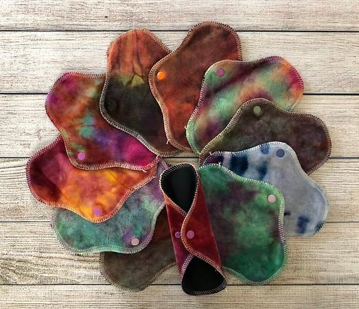 """ONE 7"""" PantyWrap Reusable Cloth Pad for Light Flow - Surprise Colours"""