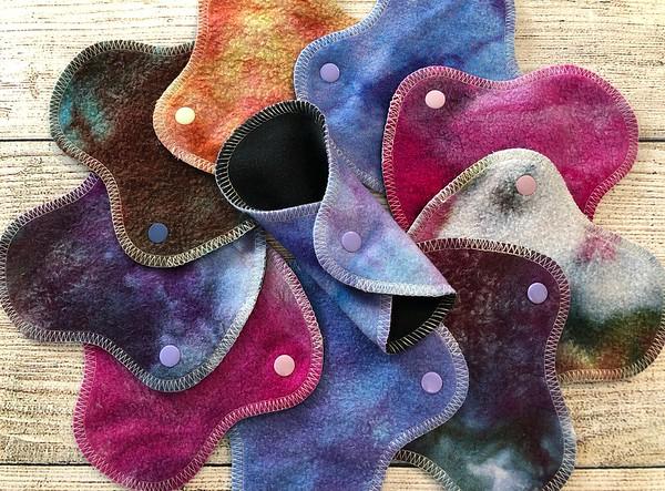 "ONE 5.75"" HalfWrap Reusable Cloth Pad for Very Light Flow - Surprise Colours"