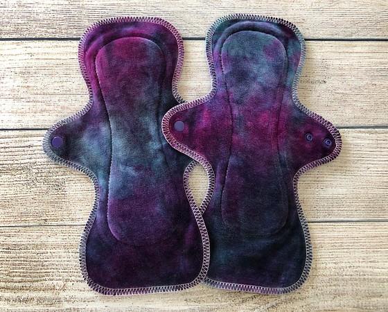 "TWO 10"" UltiMini xs Reusable Cloth Pads for Regular Flow"