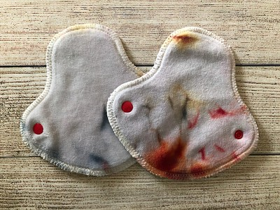 """TWO 5.75"""" Halfwrap Reusable Cloth Pads for Very Light Flow"""