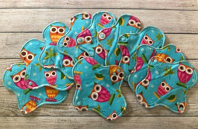"""ONE 8"""" Wrap Wing Style Reusable Cloth Pads for Light Flow"""