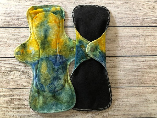 """TWO 12.25"""" UltiMini Reusable Cloth Pads for Heavy Flow"""