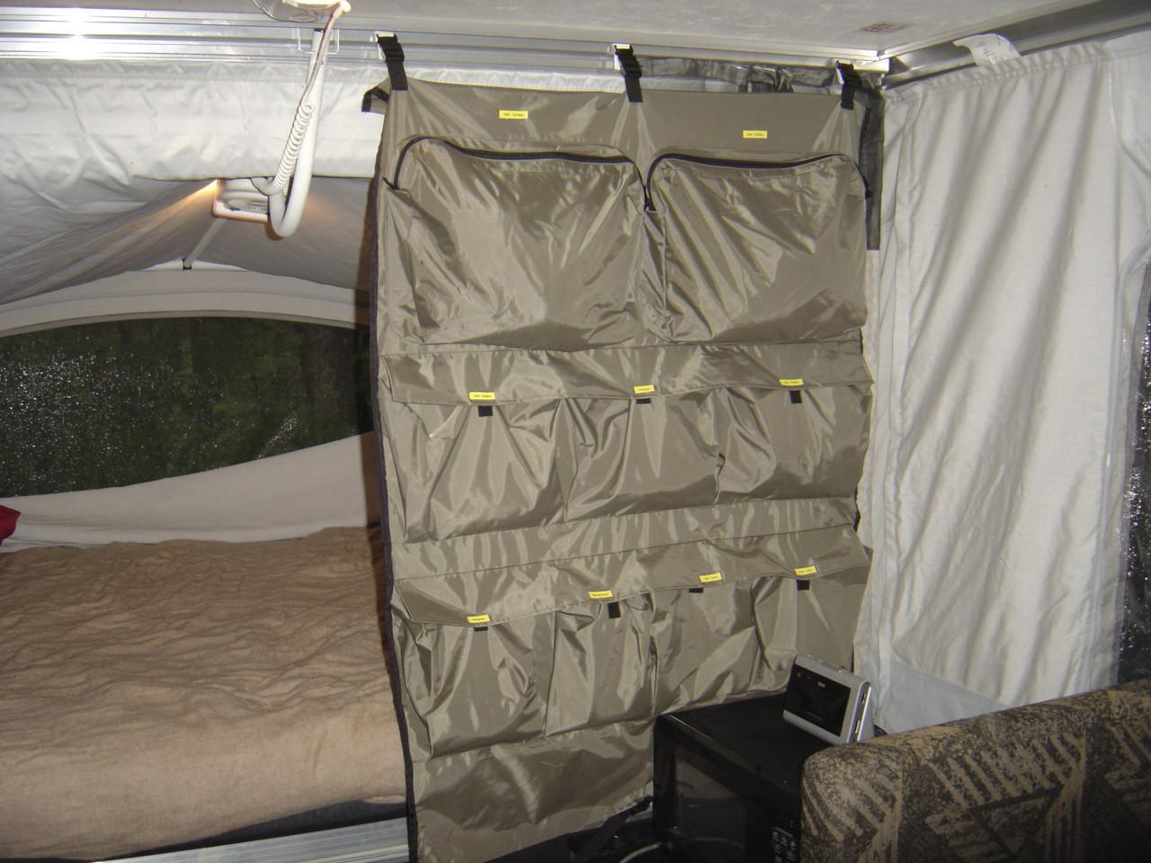 Camper Caddy hung in PUP