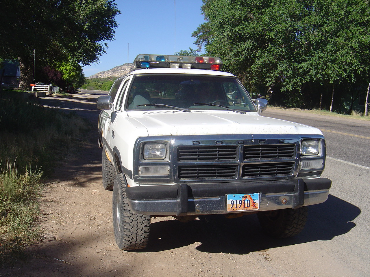 This is the patrol vehicle at the southern entrace to Mt. Carmel