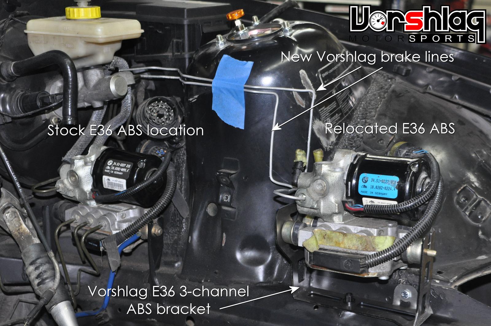 E36 LS Swap - ABS Relocation Kit instructions - Vorshlag Motorsports