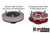 While the OEM top mount/spring perch assembly looks different from the Vorshlag camber/caster plate and OEM perch, they have the same stack-up height. This ensures that the new setup don't raise or lower your ride height.