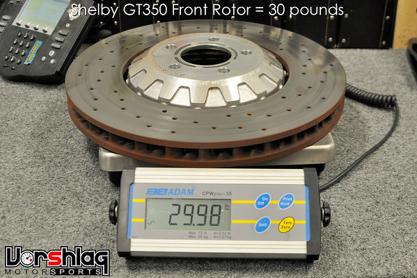 """This is the 15.5"""" GT350 2-piece rotor weight = 30 pounds"""