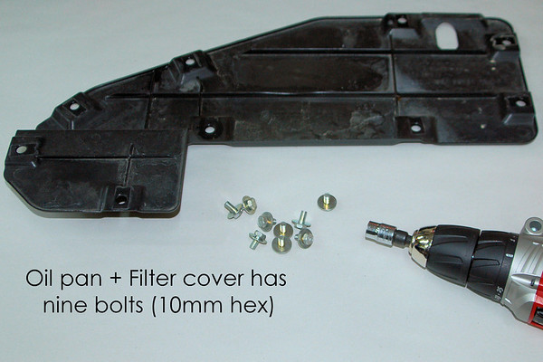 Remove this inspection cover - 9 bolts hold it in place.