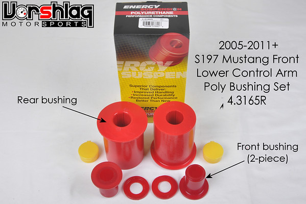 This is the S197 LCA bushing kit from Energy Suspensions.