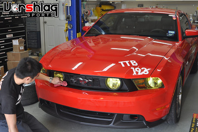 Mustang front fascia + rear panel install