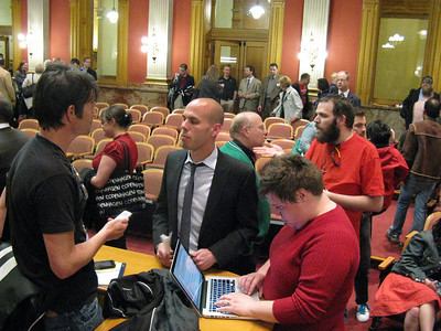 The Civil Union Act failed by a 5-6 vote; it will thus not be heard on the House floor. Brad Clark and Jessica Woodrum of One Colorado being interviewed.  http://www.one-colorado.org/