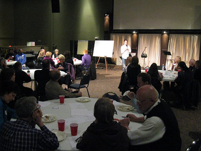 We had close to 50 participants, plus the eight facilitators from Dialogs, one at each table.