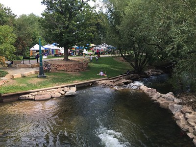 Backside above Boulder Creek - our booth is in the middle.