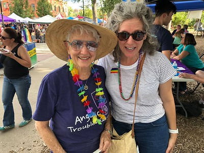 A visit by Jean Hodges, who founded the Boulder Chapter of PFLAG many years ago; she is now the national president of PFLAG.