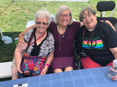 With Carol - Candice's annual friend from the PFLAG booth next door.