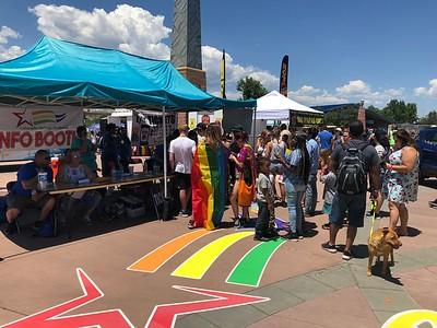 Near the entrance.  ... Pride website below: