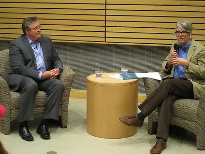Jim Daly with host, Prof. Jeff Scholes - Director of the Center for Religious Diversity & Public Life, UCCS.