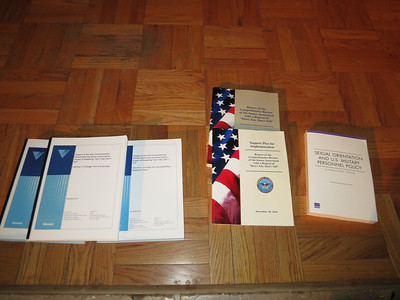 A few of the reports related to implementation of the repeal of DADT.