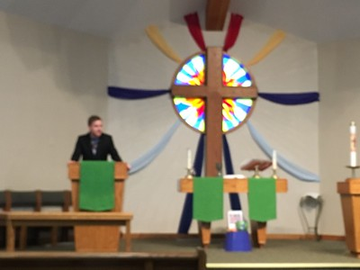[Sorry, unfocused.] ..January 21 - 8:00 service at Christ the Servant Lutheran Church, Louisville... Website below: