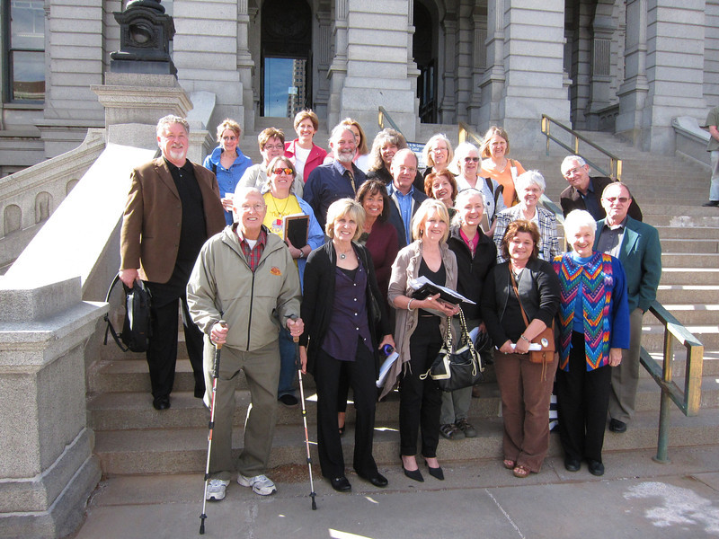 Most of us captured here on the Capitol's north steps.
