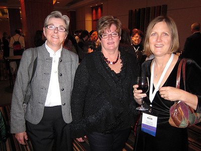 Saturday night's Awards Dinner: Marilyn and Jackie from COS and Kristen from Boulder Group.