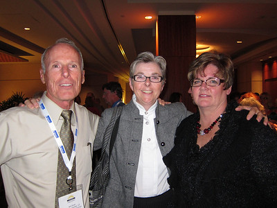 The COS contingent: Bill, Marilyn and Jackie.