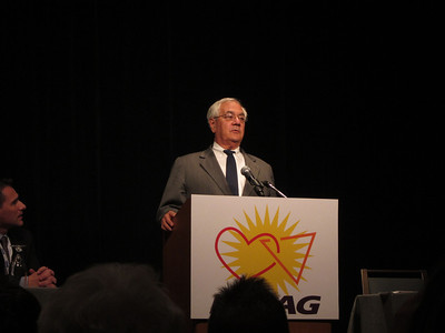 Later in the afternoon: an inspiring visit by Congressman Barney Frank (D, MA) - the first openly gay Congressman.