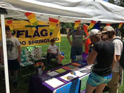 We came with lots of PFLAG brochures.