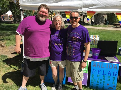 Saturday morning - organizers Jimmy & Mark with PFLAG mom Shannon.