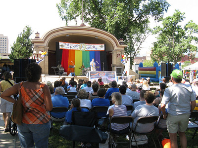 Metropolitan Community Church hosting their Sunday service at the start of PrideFest - the 19th such annual event in Colorado Springs.