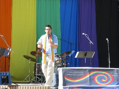 Rev.  Wes Mullins presiding.