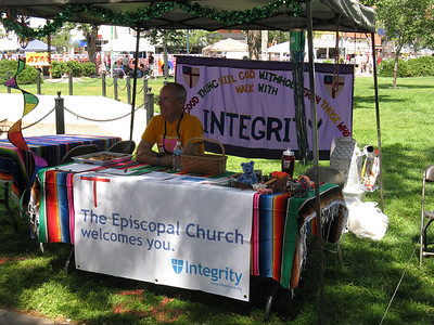 For the third year in a row our table was co-hosted with Church of the Good Shepherd, a welcoming & affirming Episcopal church in COS.