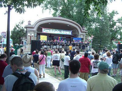 "Colorado Springs' own ""Out Loud"" Gay Men's Chorus performing."